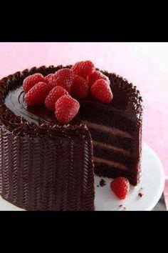Gateaux chocolat framboise