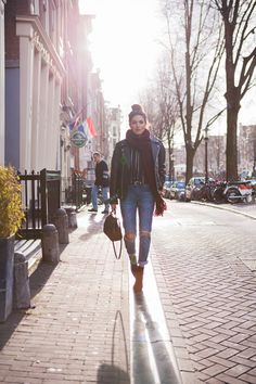 We love following @neginmirsalehi's #NYFW looks! Casual, yet they make such a statement.