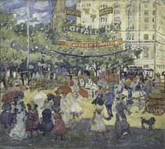 Maurice Prendergast, Madison Square, 1901. Watercolor and graphite on paper, 15 3/8 × 16 13/16 in. (39.1 × 42.7 cm). Whitney Museum of American Art, New York