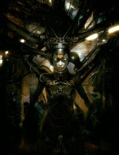 Ghost In The Machine, Alex Figini on ArtStation at https://www.artstation.com/artwork/ghost-in-the-machine