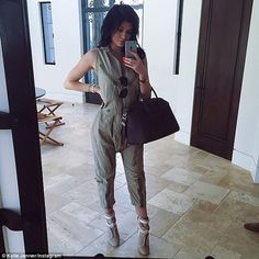 Kylie Jenner gives fans a sneak peak at new clothing line with Kendall #dailymail