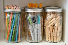 Cute way to store pencils and pens