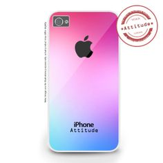iPhone 4/4S iPhone 5/5S/5C Pink and Blue iPhone by AttitudeCases, £10.99