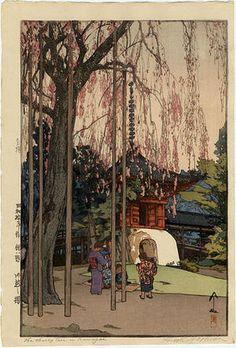 Yoshida Hiroshi: Cherry Tree Kawagoe(1936)  吉田博 昭和拾年作 桜八題 川越之桜