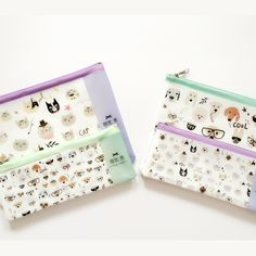 I18 Kawaii Lovely Cat Dog Pet Style PVC Pen Bag Pencil Case Storage Organizer Student Stationery School Supply Birthday Gift