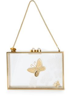 THAL� BLANC 'Hope' Flutter Butterfly Box Clutch. very unique.