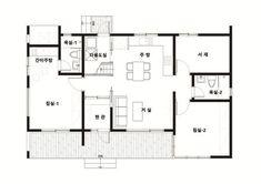 #23 목조 모던 스타일 25평 전원주택 설계제안 | 제목 : #23 '25평 1억주택 실현기' 강화도에 설계되다. 소제목 : #23 목조 모던 스타일 25평 전원주택 설계제안 출발 안녕하세요. 이동혁 건축매니저 입니다.^^ 3개월 전 1억주택이라는 프로젝트의 일환으로 1억짜리 주택을 3개 모델로 제안드린 적이 있었습니다. 그 중 2번째 모델이었던 주택이 계약되어 조금의 설계수정을 거쳐 최종 강화도에 시공되 Good House, House In The Woods, House Plans, Floor Plans, House Design, Flooring, How To Plan, Interior Design, Architecture