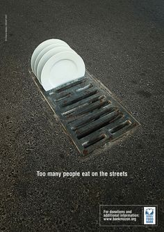TOO MANY PEOPLE EAT ON THE STREETS. basado en una foto de Chema Madoz, un genio de la poesía visual.www.chemamadoz.com