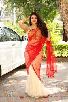 Malayalam actress Gayathri Suresh stills in half saree at Telugu movie Hero Heroine Teaser Launch. South Indian Actress Hot, Indian Film Actress, Beautiful Indian Actress, Beautiful Actresses, Indian Actresses, Blue Colour Dress, Beautiful Blonde Girl, Beautiful Gorgeous, Beautiful Saree