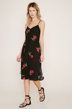 Floral Print Cami Dress - Dresses - Midi + Maxi Dresses - 2000153215 - Forever 21 EU English