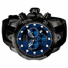 Invicta Reserve Men's Venom Blue Dial Black Poly Strap Chrono Swiss Watch F0003 | eBay