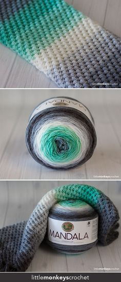 Spring Bean Cowl Crochet Pattern | Free cowl crochet pattern by Little Monkeys Crochet | made with Lion Brand Mandala Yarn