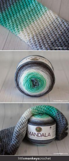 Spring Bean Cowl Crochet Pattern - free cowl crochet pattern by Little Monkeys Crochet - made with Lion Brand Mandala Yarn Crochet Cowl Free Pattern, Crochet Diy, Crochet Gratis, Crochet Blanket Patterns, Knitting Patterns, Crochet Ideas, Caron Cakes Crochet, Cowl Patterns, Sewing Patterns