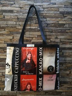 Linzomatic MIX Kaffee- u. Top Drinks, Reusable Tote Bags, Etsy, Coffee, Dime Bags