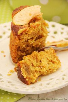 Le moelleux pomme-citron au son d'avoine et sirop d'agave - Saines Gourmandises... par Marie Chioca