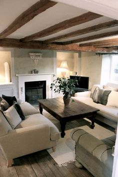 42 comfy modern country living room design - home decor for fun Country Cottage Living Room, Modern Country Living Room, Cottage Living Rooms, Country Cottage Living, Country Cottage Interiors, Modern Country Living, Cottage Living, Farm House Living Room, Country Style Living Room