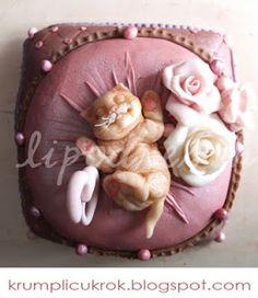 Kitten Cake, Little Kittens, Beautiful Cakes, Cake Decorating, Birthday Cake, Carving, Sugar, Cat Cakes, Desserts