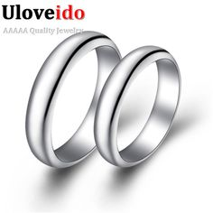 Fair price Uloveido Retro Color Silver Rings for Women and Men Aneis Wedding Jewelry Anillos Bijouterie Couple Rings Anel Masculino J017 just only $5.03 with free shipping worldwide  #weddingengagementjewelry Plese click on picture to see our special price for you