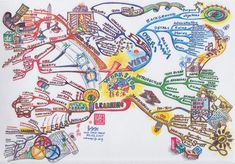 For the uninitiated, a mind map is a graphical organization of ideas and concepts that can be used to facilitate the generation of ideas and the learning process. The reason. Min Map, Mind Map Art, Brain Based Learning, Learning Process, Dot Letters, Brain Mapping, Mental Map, Study History, Creativity And Innovation