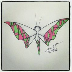100 Butterflies in 100 Days, Day 30, Medium: Color  Pencil