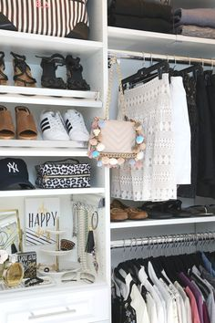 Creative Closet Makeover with EasyClosets Tips and tricks for designing and installing and closet organization system. Master Closet, Closet Bedroom, Closet Space, Master Bedroom, Creative Closets, Creative Home, Closet Vanity, Simple Closet, Closet Designs