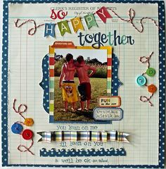 Pennants scrapbook layout