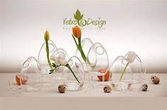 """Set di 3 Vasi """"Ovetto Con Zampe"""", Vetro Soffiato, handmade in Italy di vetroedesign su Etsy"""