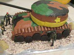 Army tank/camo cake I made for stepson's bday