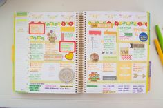 Our Holly Days: A Look Inside My Planner #eclifeplanner #fabfans #ecbloggers