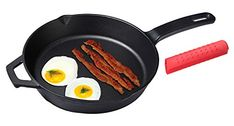 Unicook Pre-Seasoned Cast Iron Round (bonus of heat resistant hot handle holder) *** Tried it! Click the image. : All Pans for Cooking Dutch Oven Recipes, Cast Iron Skillet, Roasting Pan, Grill Pan, Grilling, Handle, Special Deals, Baking, Bakken