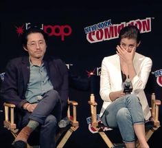 lauren crying and steven consoling her, my life is over #TWDNYCC