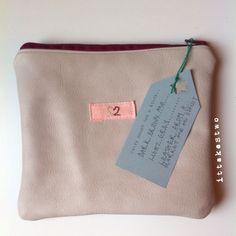 Handmade Italian leather pocket pouch