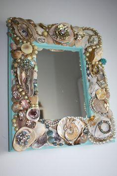 Sea Shell & Jewelry Embellished Mirror Lianna by SeaForYourself