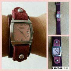 Nieuw horlogebandje gemaakt van restjes leer