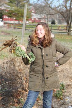 Bryn Bachmann '14 helps out at a local farm