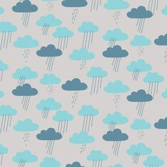 141002 Cloudy Days | Blue Quilter's Cotton from Sweet Autumn Day by little cube for Cloud9 Fabrics