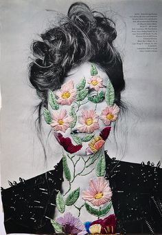 Flowers Nº1 embroidery on photo Mag
