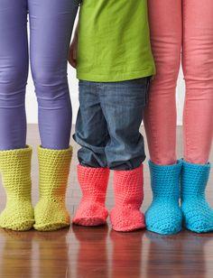 Slipper Boots   Yarn   Free Knitting Patterns   Crochet Patterns   Yarnspirations