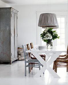 Fabulous Tine K lampshades - gorgeous grey and white