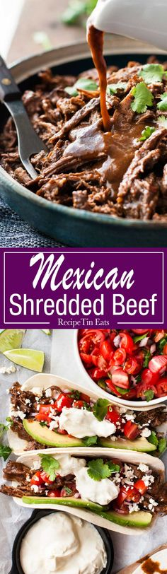 This is a family favourite, I always have bags of it in the freezer! I use for tacos, enchiladas and burritos. I make this in my slow cooker.