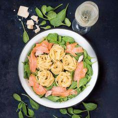 Rezept: One Pot Pasta Lachs & Spinat