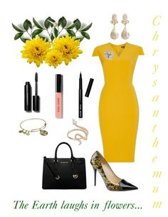 """""""Chrysanthemum"""" by campanellinoo on Polyvore featuring Pied a Terre, Alex and Ani, Michael Kors, Nigaam, ColoredPrints and Bobbi Brown Cosmetics"""