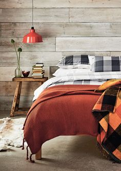 Create a sanctuary perfect for sinking into after a long day with deep, warm colours and thick chunky knits.