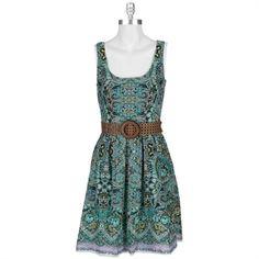 Nine West Paisley Dress with Belt