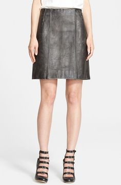 MARC BY MARC JACOBS 'Biker' Leather Miniskirt available at #Nordstrom