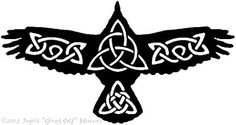 Raven with Celtic patterns, Monica's celtic zodiac sign Celtic Raven Tattoo, Celtic Tattoos, Viking Tattoos, Celtic Patterns, Celtic Designs, Celtic Symbols, Celtic Art, Celtic Knots, Heidnisches Tattoo