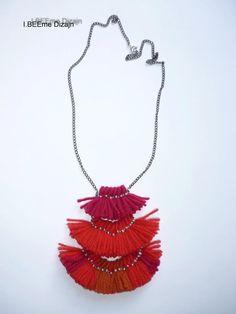 #ibeemedesign #handmade #woolnecklaces Tassel Necklace, Necklaces, Tassels, Wool, Handmade, Jewelry, Design, Fashion, Jewellery Making