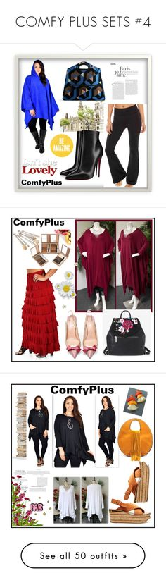 """""""COMFY PLUS SETS #4"""" by nizaba-haskic ❤ liked on Polyvore featuring Christian Louboutin, Dries Van Noten, White House Black Market, Opinion Ciatti, Chloé, Kenneth Jay Lane, Giuseppe Zanotti, The Row, Anne Klein and Bar III"""