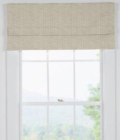 Wharton Flat Faux Roman Shade - Country Curtains®