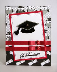 Snippets By Mendi: Doodlebug Cap & Gown Graduation Card